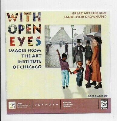 With Open Eyes Art Institute of Chicago Great Art for KIds CD ROM