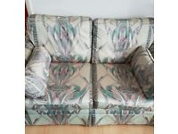 floral sofa and chair