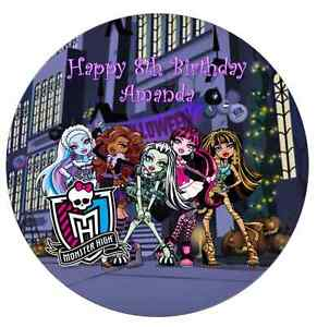 Personalised 19cm Monster High Edible Wafer Paper Cake Topper
