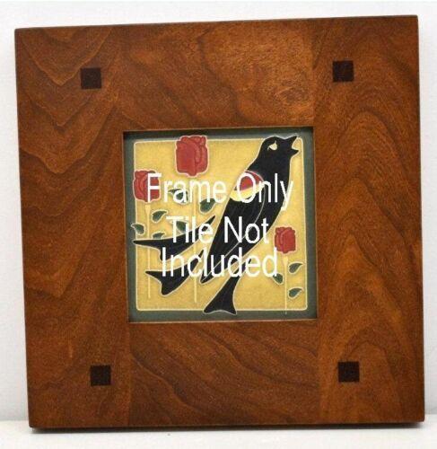 4x4 Arts & Crafts Morris Cherry Tile Frame, Motawi, Grueby, Batchelder, Pewabic