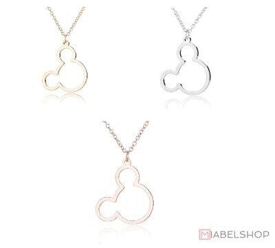 Anhänger Micky Maus Mickey Disney Land Rosegold Gold Silber (Halskette Ketten)