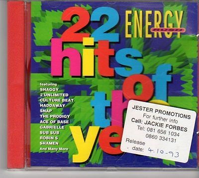 Ev434  Energy Rush  22 Hits Of The Year  22 Tracks Various Artists   1993 Cd