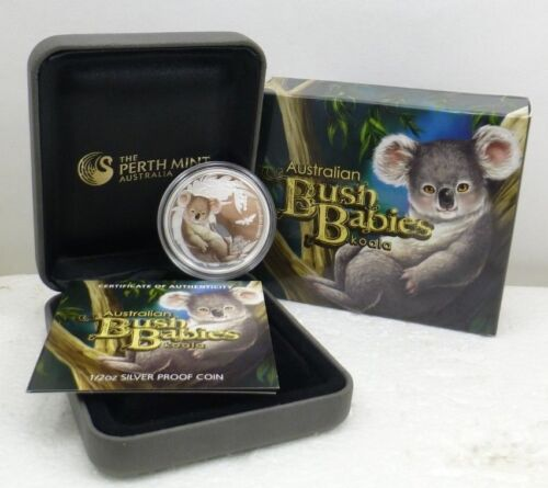 "2011 Australia ""Bush Babies"" Koala Perth Mint 50¢ 1/2 Oz Pure Silver Proof"