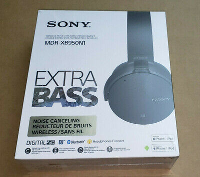 Sony XB950N1 EXTRA BASS Noise-Canceling Wireless Bluetooth Headphones (Black)