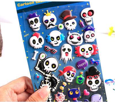 Geister Aufkleber Sticker 3D Kinder Jungen Mädchen (3d Halloween)