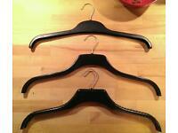 36 Mens clothes coat hangers - thick wide shop grade