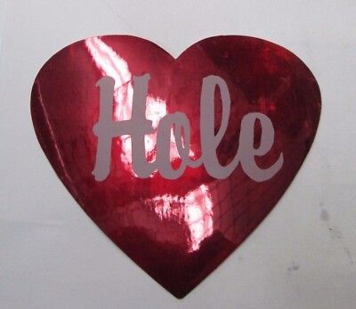 HOLE STICKER COLLECTIBLE RARE VINTAGE 1990'S METAL  WINDOW DECAL  COURTNEY LOVE