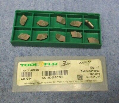 Tool Flo  Carbide Inserts  Tfn -3 Grade Ac22c  Pack Of 10