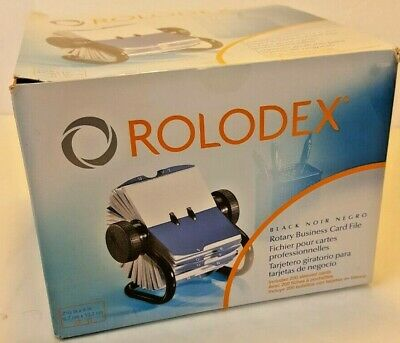 Rolodex Open Rotary Business Card File W 200 2-58 X 4 Card Sleeve 67236 New