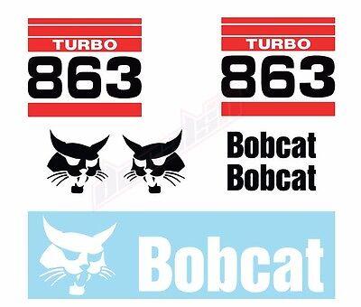 Bobcat 863 Turbo Skid Steer Set Vinyl Decal Sticker - Free Shipping