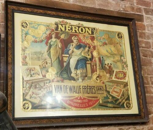 ANTIQUE NERON VAN DE WALLE FRERES ADVERTISING CIGAR PRINT