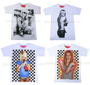 Mens-Retro-Punk-Rock-Pop-Sexy-Blond-Girl-Vintage-Finger-Kate-Moss-T-Shirt-New