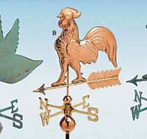 Copper weathervane for roof