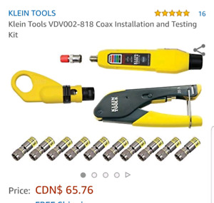KLEIN TOOLS Coax installation and test kit