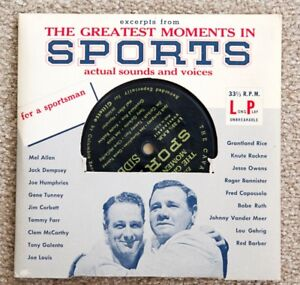 Vintage Audio Recording Greatest Moments in Sports