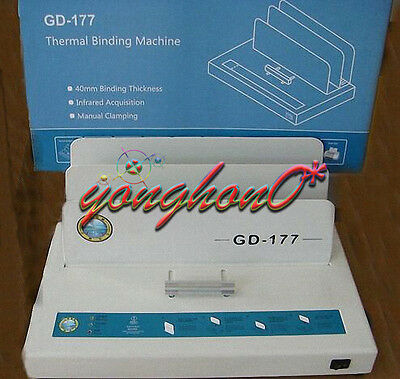 For A4 Paper Electric Hot Melt Glue Binding Machine Book Binder Gd-177220v