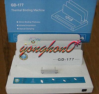 For A4 Paper Electric Hot Melt Glue Binding Machine Book Binder Gd-177220v