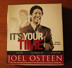 """Joel Osteen """"It's Your Time"""" Audio Book, Like New!"""