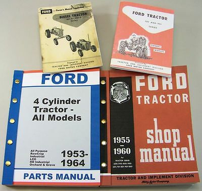 Ford 961 D Diesel Tractor Owner Operators Parts Repair Service Shop Manuals 961d