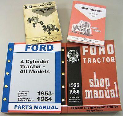 Ford 971 D Diesel Tractor Owner Operators Parts Repair Service Shop Manuals 971d