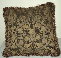 "4 Large Accent Pillows with Fringes- 19"" Square"