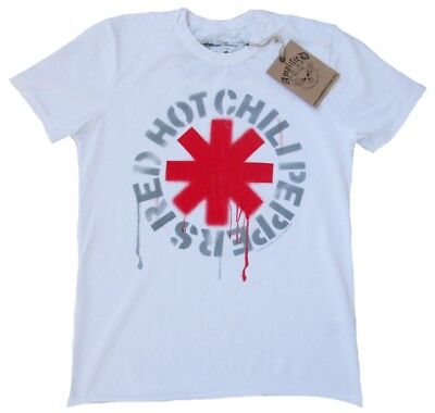 ViP AMPLIFIED Official RED HOT CHILI PEPPERS Logo Rock Star Vintage T-Shirt XXL (Red Hot Chili Peppers-logo)