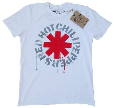 AMPLIFIED Official RED HOT CHILI PEPPERS Logo Rock Star Vintage ViP T-Shirt M 48 (Red Hot Chili Peppers-logo)