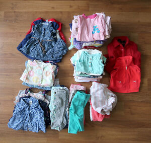 Huge baby girl 0-3 month clothing lot