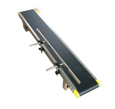Newest Desktop PVC Belt Conveyor 59''x 7.8'' Single Fence 110V Electric Conveyor