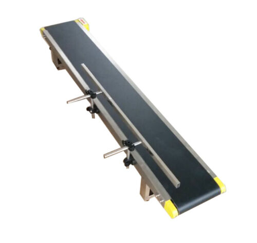 59x 8 Inches Desktop PVC Belt Conveyor Electric Conveyor Systerm with Guard Bar