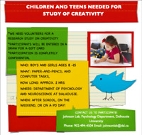 Research Study Opportunity:  Children ages 8 – 15 needed