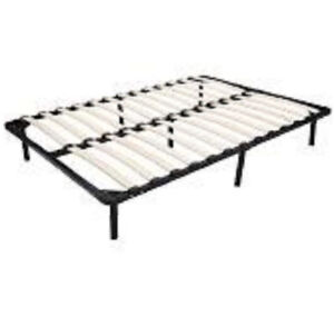 QUEEN SIZE MATTRESS WITH IKEA METAL WOOD BASE