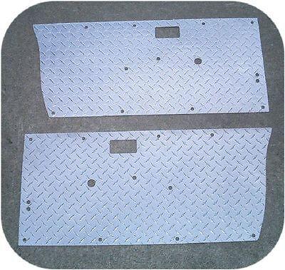 SET OF 2 SUZUKI SAMURAI SMOOTH BARE ALUMINUM FRONT DOOR PANELS
