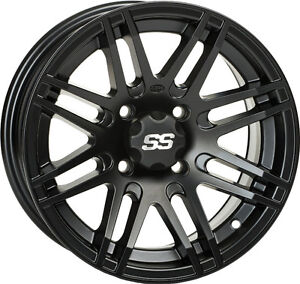 ITP SS ALLOY SS316 Matte Black Wheel with Machined Finish (14x7""