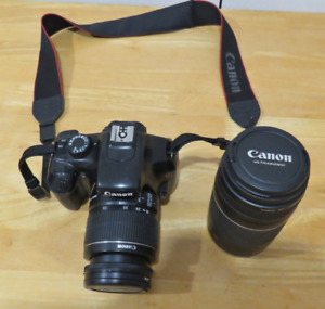 Canon EOS Rebel T3 DSLR Camera, 75 to 300/18 to 55 mm Lens.