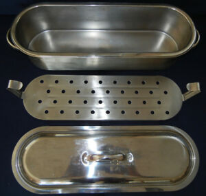 CASSEROLE / POACHER     (Stainless Steel)   pour le poisson