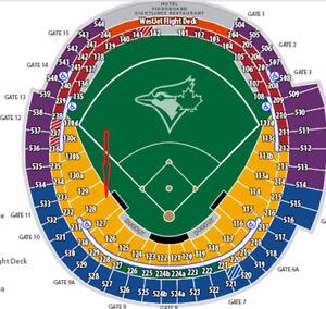 TORONTO BLUE JAYS HOME GAMES****4 tickets ***section 128 row 5