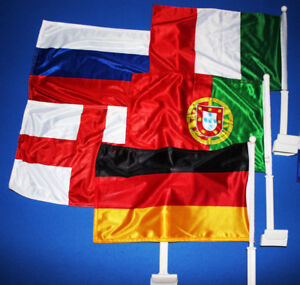 Car Window Flags FIFA Soccer Russia Germany England & More - $10