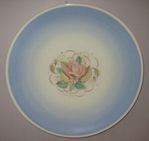 Susie Cooper Blue Patricia Rose 14.75 inch wall charger art deco