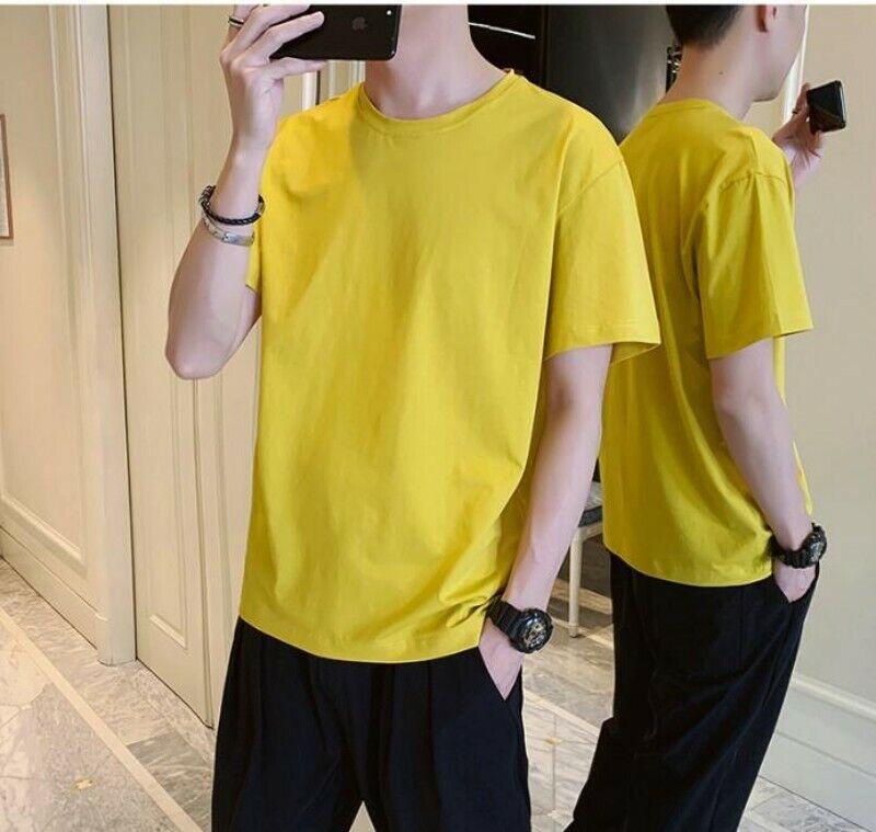 Summer Men's 2PCS Sportswear Tracksuit T Shirt Tops Sport Pa