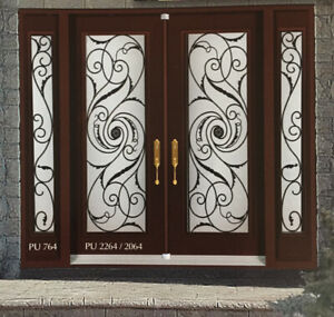 Decorative glass inserts for entry doors stained glass wrought
