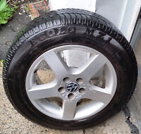 4 VW mags tires 1955-65-15 .Bolt Pattern: 5x100 mm, the mags goo