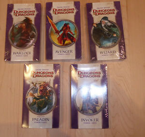 5 NEW DUNGEONS and DRAGONS power card sets $ 10 ea