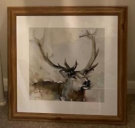 Dunelm stag framed print
