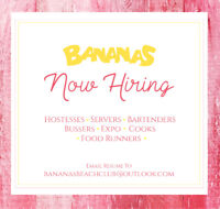 HIRING FOR BUSSERS AND KITCHEN STAFF