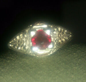 .46ctw Genuine NATURAL Ruby ♥ 925 ♥ 14k Gold ♥ Engagement Ring