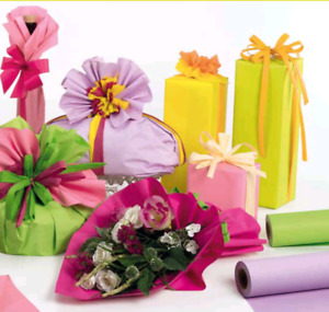 Gift wrapping paper. Flower wrapping and Decoration materials.