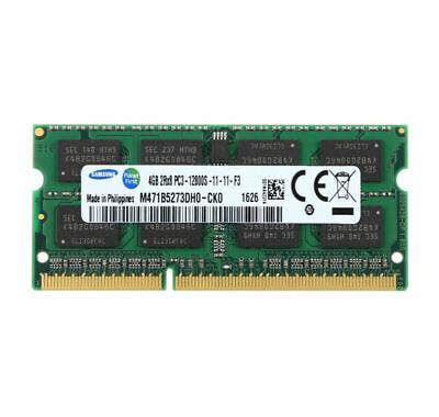 For RAM Samsung 4Go 2RX8 DDR3 1600 MHz PC3-12800 204PIN SODIMM pour Mémoire CL11