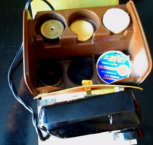 RONSON Roto Shine Magnetic Shoe Shine Kit w Vinyl Case Works