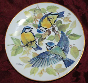 gift idea -SONG BIRDS SING VOGEL German Collector PLATE WWF G8